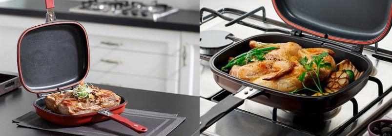 Двухсторонняя сковорода «Мастер Жар» отзывы, цена и рецепты приготовления